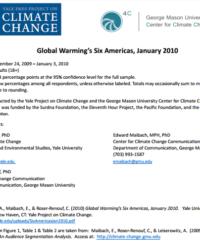 Global Warming's Six Americas, January 2010