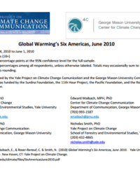 Climate Change in the American Mind: Global Warming's Six Americas in June 2010