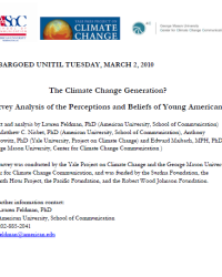 The Climate Change Generation? Survey Analysis of the Perceptions and Beliefs of Young Americans: 2010