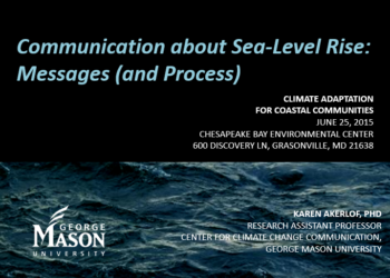 Communication about Sea-Level Rise: Messages (and Process)