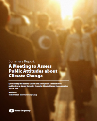 Meeting Report: Assessing Public Attitudes about Climate Change, April 2008