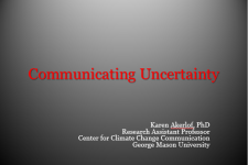 Communicating Uncertainty