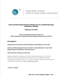American Meteorological Society Member Survey on Global Warming: Preliminary Findings, February 2012