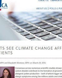 Allergists See Climate Change Affecting Their Patients