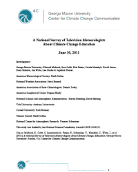 A National Survey of Television Meteorologists About Climate Change Education, June 2011