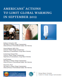 Americans' Actions to Limit Global Warming: September 2012
