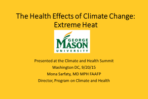 The Health Effects of Climate Change: Extreme Heat