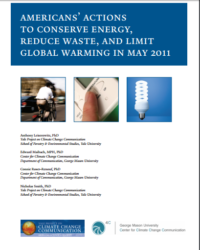Americans' Actions to Conserve Energy, Reduce Waste, and Limit Global Warming: May 2011