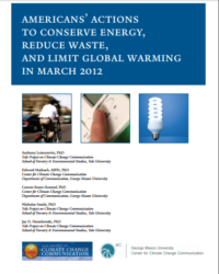 Americans' Actions To Conserve Energy, Reduce Waste, and Limit Global Warming in March 2012