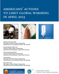 Americans' Actions to Limit Global Warming: April 2013