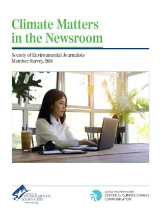 Society of Environmental Journalists Member Survey, 2018