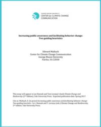 Increasing Public Awareness and Facilitating Behavior Change: Two Guiding Heuristics