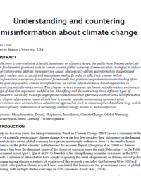 Understanding and countering misinformation about climate change
