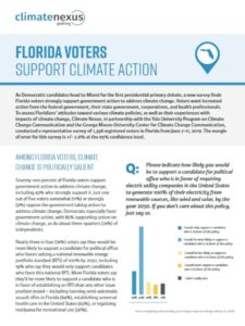 Florida Voters Support Climate Action