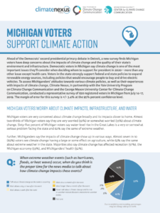 Michigan Voters Support Climate Action