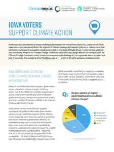 Iowa Voters Support Climate Action
