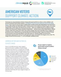 American Voters Support Climate Action