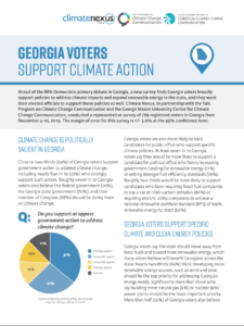 Georgia Voters Support Climate Action