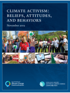 Climate Activism: Beliefs, Attitudes, and Behaviors- November 2019